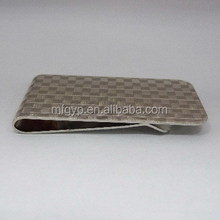 business gift carbon fiber metal blank money clip