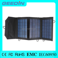 Portable and foldable dual-port solar panel solar panel pole mount for mobile phone