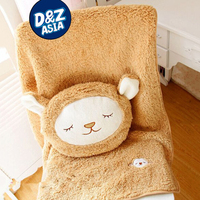 Fleece blanket and a pillow cushion, very lovely cute items