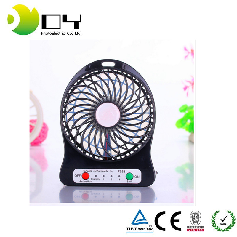 USB Powered Rechargeable Fan Ventilador Pequeno for Outdoor Activities As Camping