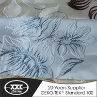 High quality popular blackout hotel fancy flower jacquard curtain fabric