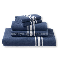 Luxury 100%Cotton Textured Towel Set, Stripe HTS-020 wholesale