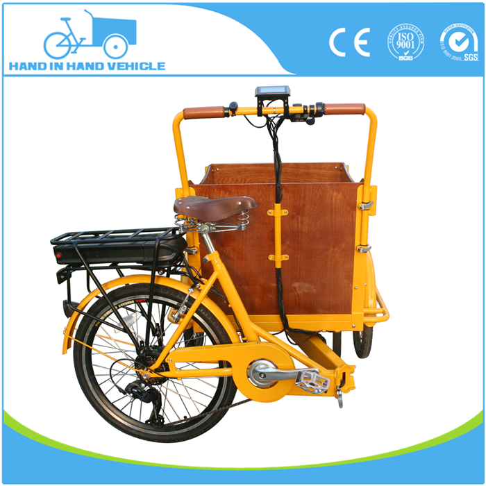 2018 new products folding cargo tricycle bike with 3 wheels