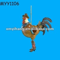 Unique cowboy rooster bird house Pet Product