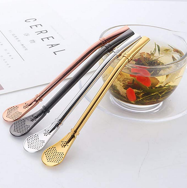 Food Safe Personal Water Filter Straw Stainless Steel Spoon Straw