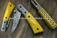 Damascus steel Folding Knives