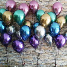 birthday decoration <strong>12</strong> inch Globos metalicos party balloon chrome