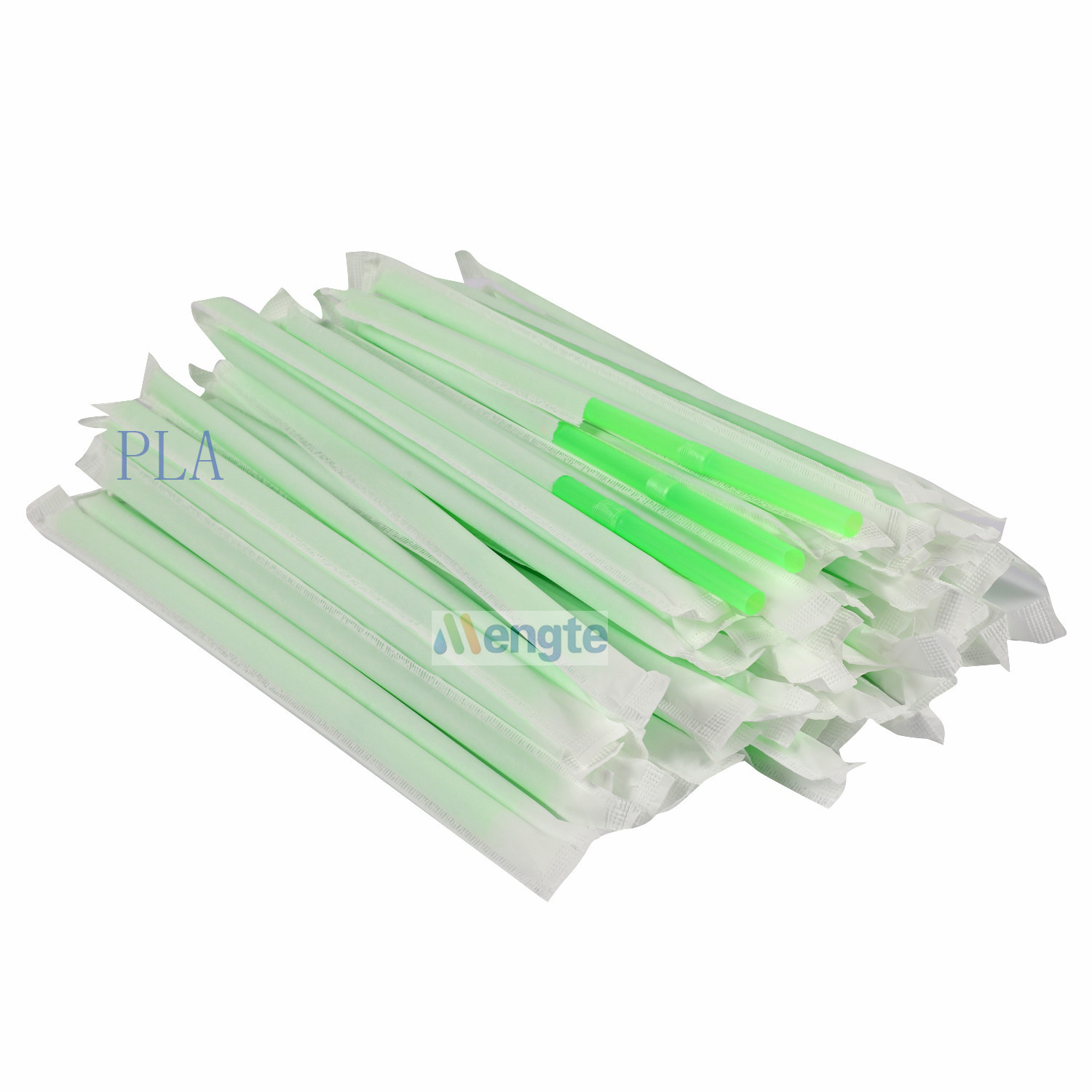 Customized logo made Natural Eco-friendly PLA Drinking Straws Biodegradable Straws