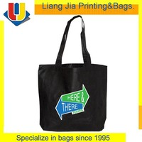 Eco Polypropylene / Non Woven Material Foldale Black Tote Shopping Bag