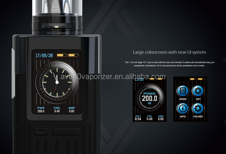 New Products 2018 200W Joyetech ESPION with ProCore X Dual 18650 Cells With 1.45 Inch Large TFT Color Display