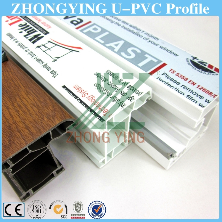 60mm white casement window pvc frame extrusion
