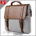 Casual Style Premium PU Leather Business Briefcase Laptop Bag Mens Briefcase