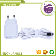 Hot sale mini slim usb wall travel fast charger with Android cable