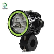 2017 new hot sale style 30W DC12-24V h4 led motorcycles projector headlights with Angel eye