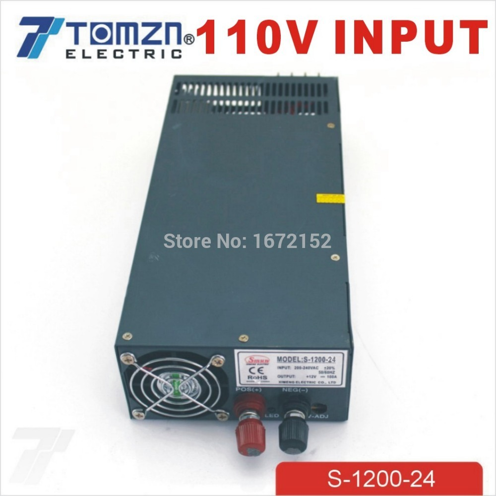 1200W 24V adjustble 220V input Single Output Switching power <strong>supply</strong> for LED Strip light AC to DC