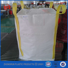 1000kg tubular big bag for wheat/uv resistant pp jumbo bag /industrial big bag 1000kg ZR factory