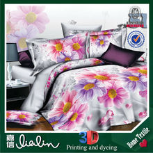 3D reactive printing bedding set 100% polyester for Kids & Adult