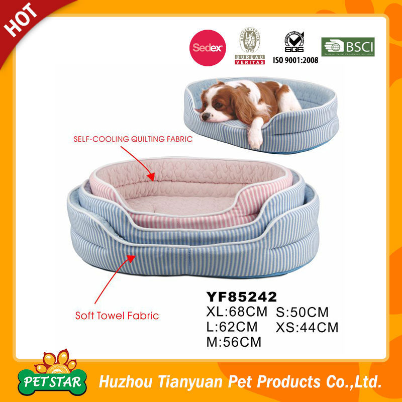 Self Cooling Quilting Fabric Cooler Dog Bed