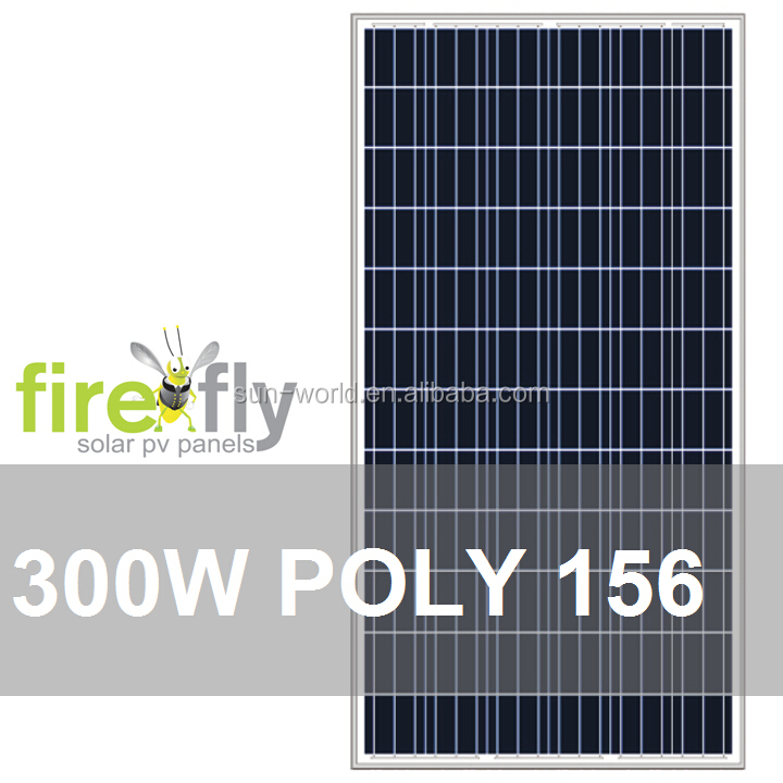 300W PV Solar Panel (Poly 156, Modules of A Grade; CE, IEC, TUV, CEC, ISO 9001, ISO 4001, RoHS)
