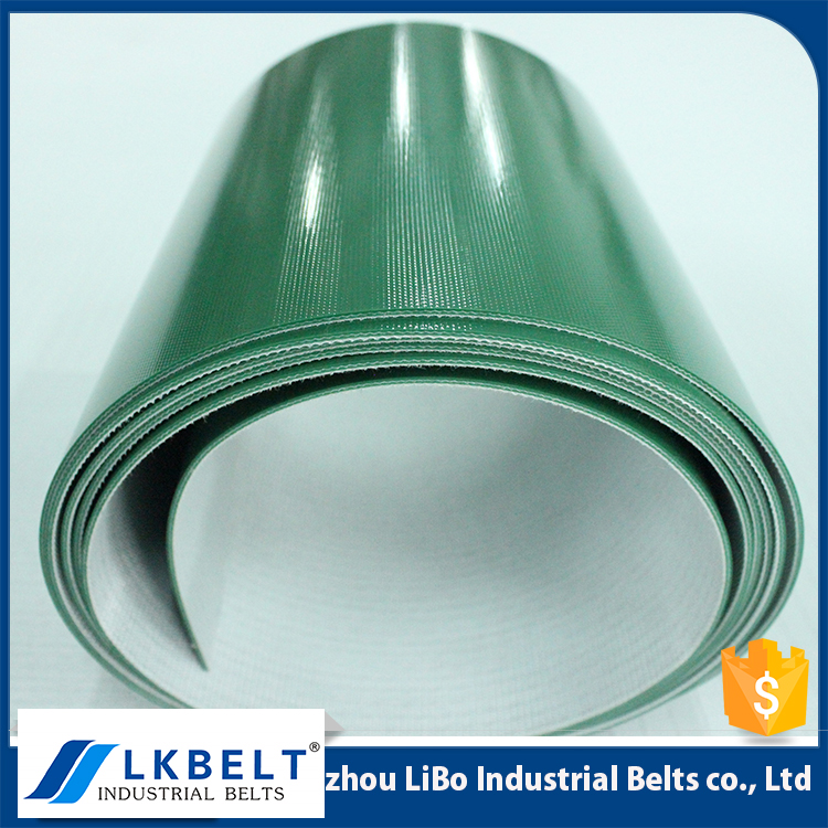 high quality Flame resistant green flat PVC belt conveyor