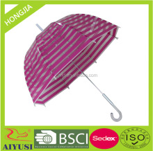 Japanese style plaid transparent birdcage umbrella