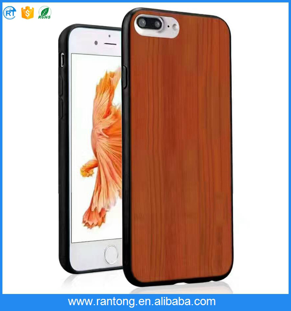phone accessories mobile wood tpu for iphone 7 plus case
