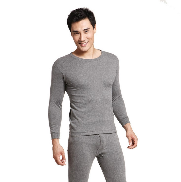 Fashion Winter Heated Factory 100% Cotton Thermal Men Long Johns Underwear