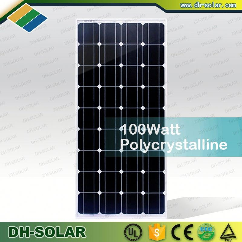 1280*670*35mm Monocrystalline Silicon Material 120w solar panel