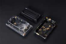 disposable take away packing food plastic sushi box