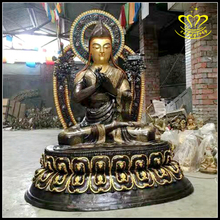 Brass resin color art shakyamuni buddha statues for sale