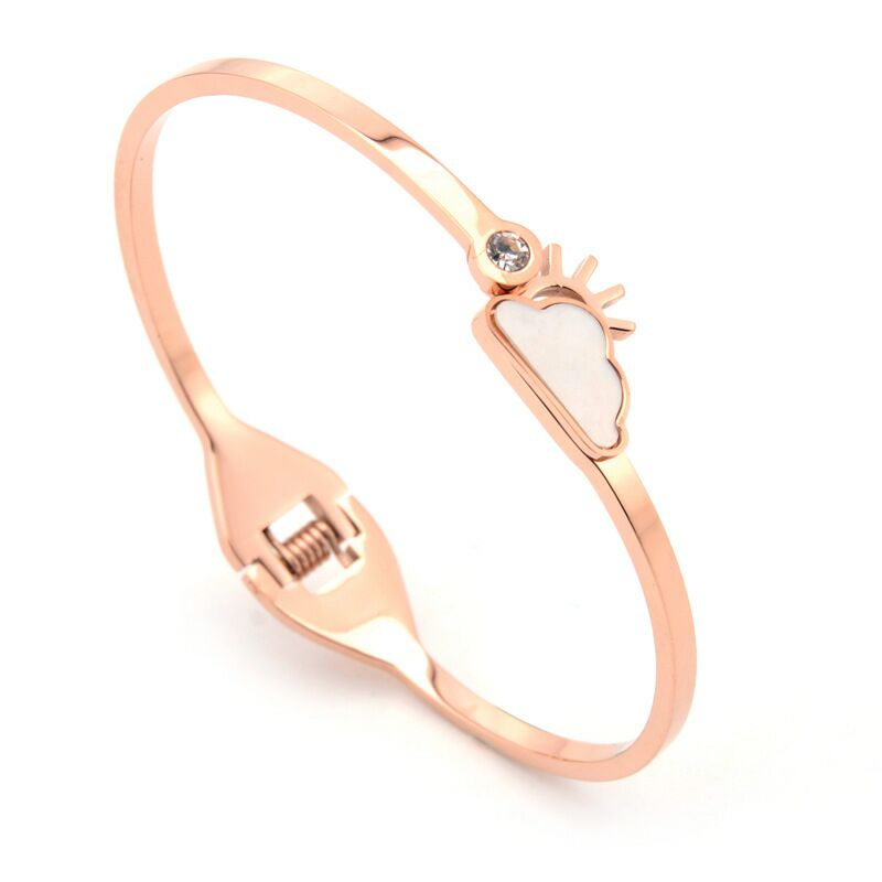 Free design  costom best quality rose gold titanium steel does not fade bracelet jewelry mother's day