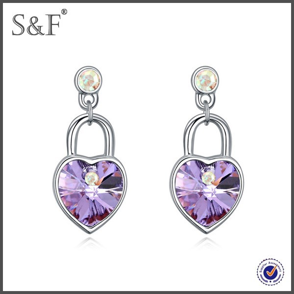 Cheap Prices!! Latest Design Popular Zircon sliced diamond earrings