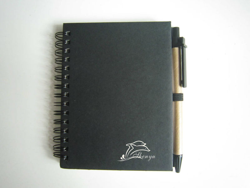 exercise hard cover note book with pen & spiral in B5/A5/A6