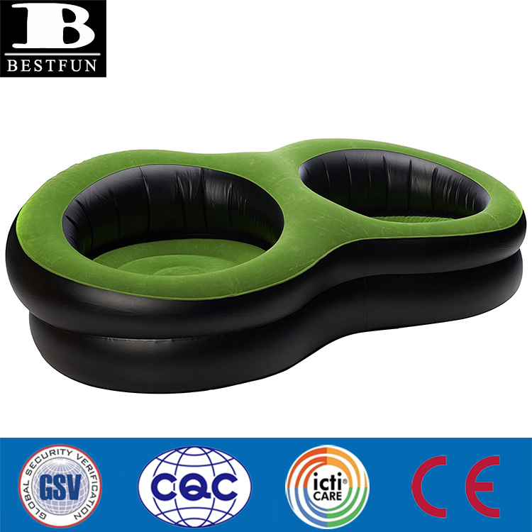 Brand New Outdoors Deluxe Inflatable double arm chair morden round ball air chair ultra relaxing leisure lounge chair