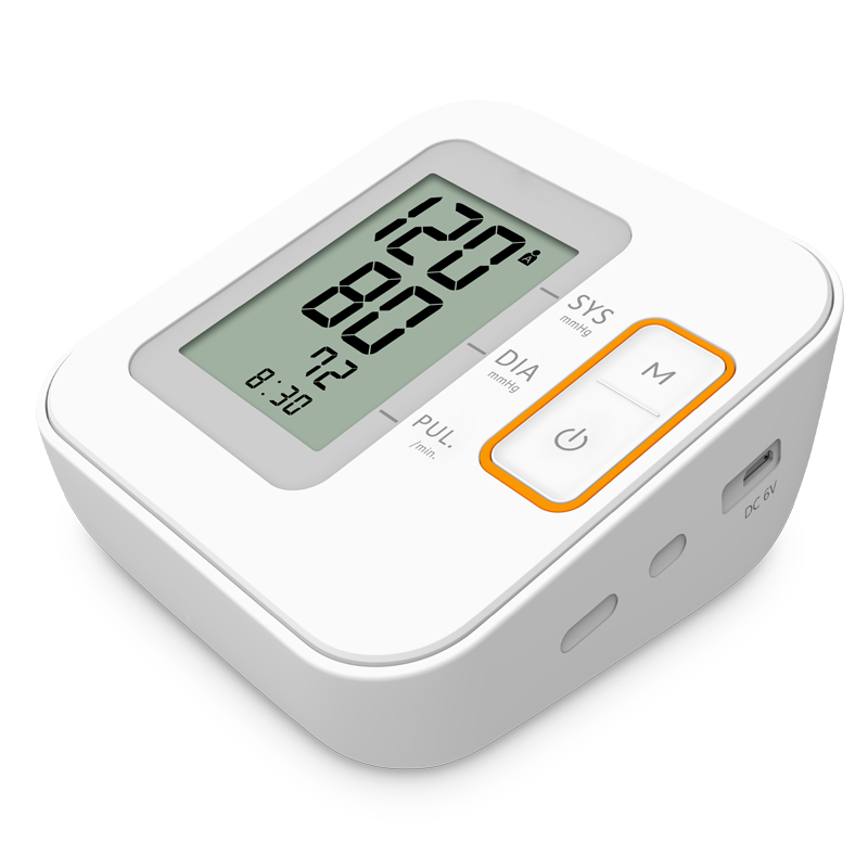 Digital upper arm blood pressure monitor with LCD display
