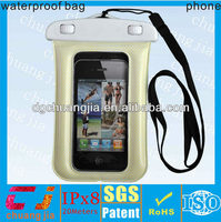 New design pvc waterproof mobile phone pouch for iphone5