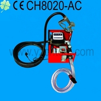 12V/24V220V electric metering pump/diesel transfer pump with meter and nozzelCH8020