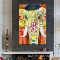 Thai elephant personate abstract animal elephant nice decoration for home wall picture for restaurant