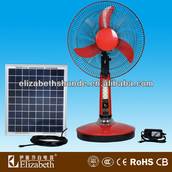 "16"" portable Solar system table Fan Energy for home RF-1603"