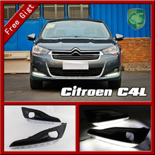 Ultra bright 12V Car LED For Citroen C4L Headlight Body kit Auto Accessories Front bumper Fog light Driving lamp