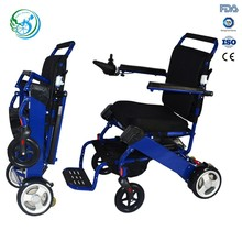 Aluminum lightweight portable power wheelchair with lithium battery