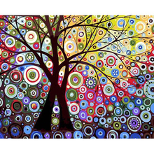 CHENISTORY DZ1403 Painting By Numbers Colorful Oil Abstract Sun Tree No Frame On Canvas
