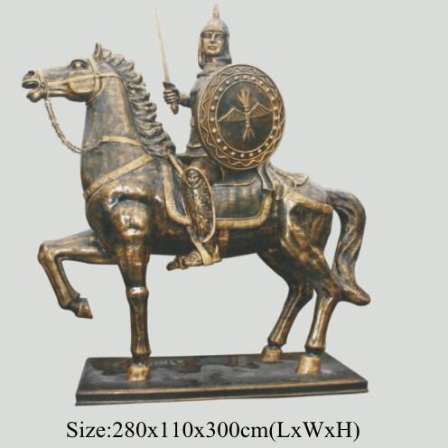 Height 3meters Roman Soldiers Bronze Sculpture For Sale