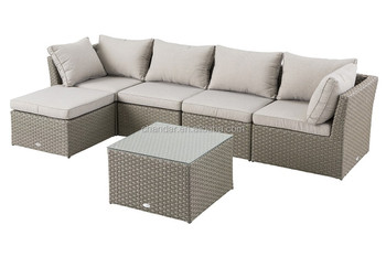 CH-W189 stylish wicker sofa furniture with aluminum frame and water repellent cushion, sectional sofa