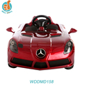 Licensed Mercedes Benz SLR 12v big kids ride on car with leather seat music and light 2.4G RC EVA wheel toy WDDMD158