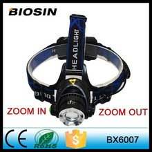 High Power Rechargeable Coal Miners XML T6 Led Headlamp with Color Box