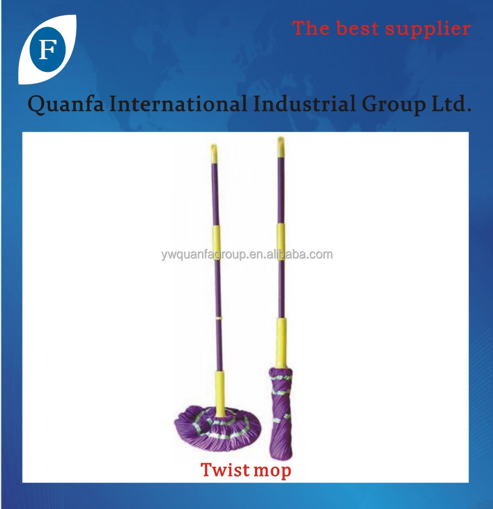 extensible cotton twist mop with stainless steel tube