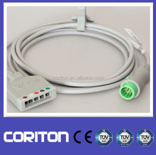 2014 Hot Mindray ECG Trunk Cable 12 pin for BeneView (T5,56,T8), iPM,iMec