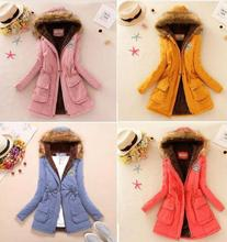 new product hot sale Multicolor Ladies Winter Thicker Hoody Middle Ovecoat Women Wool Coat