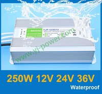 (YJP-V25024) dc 24v high voltage input led power supply 24volt output 250w switching power supply, CE RoHS IP67 certification